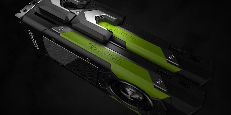 Quadro GP100 is the latest in Nvidia for workstations 16 GB of HBM2 memory and NVLINK