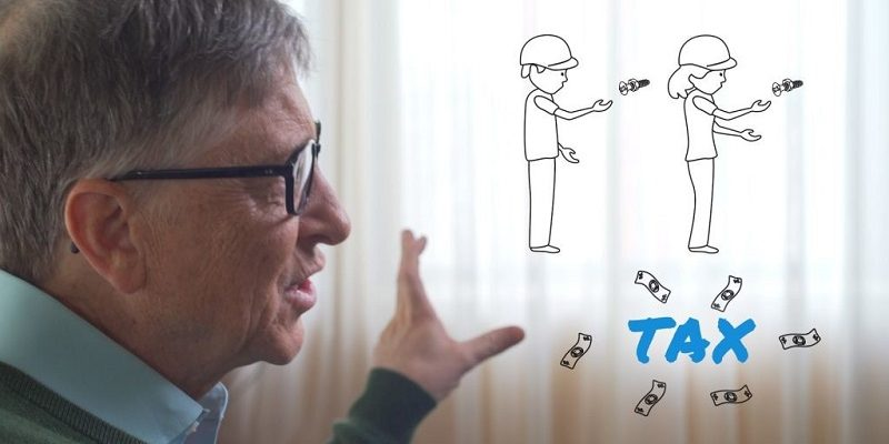 """Bill Gates: """"If a robot replaces the work of a human, this robot must pay taxes like a human."""""""